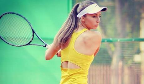 Anastasia Vdovenco participă la un turneu ITF Womens Circuit în Egipt