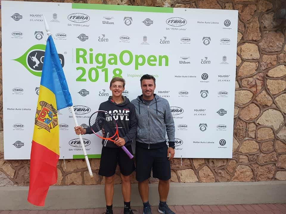 "Maxim Cazac a ocupat locul doi la turneul Tennis Europe ""Riga Open 2018"""